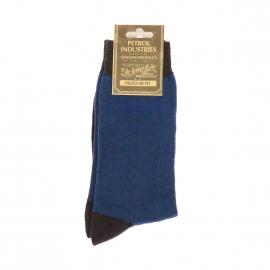 Chaussettes Petrol Industries bleu canard et gris foncé à motifs aux contours gris clair