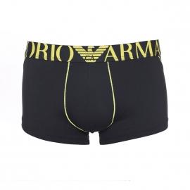 Boxer Emporio Armani en microfibre noire et jaune