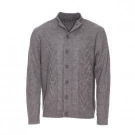 Gilet boutonné Best Mountain en laine gris chiné