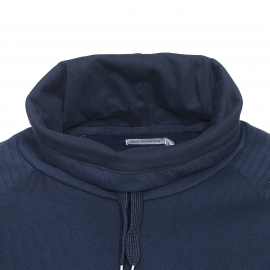 Sweat Best Mountain en coton bleu marine à surpiqûres aux épaules