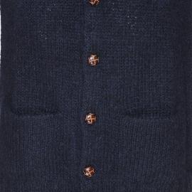 Gilet boutonné Palisto American Vintage bleu marine chiné