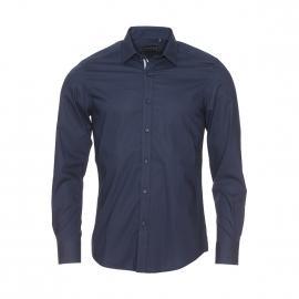 Chemise cintrée Antony Morato en coton bleu marine à boutonnière contrastante