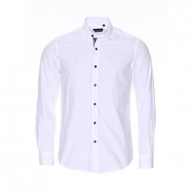 Chemise cintrée Antony Morato en coton blanc à boutonnière contrastante