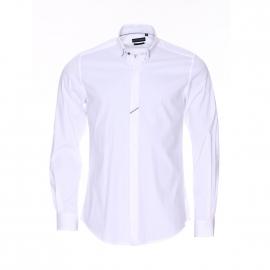Chemise cintrée Antony Morato en coton blanc à liserés pied-de-poule