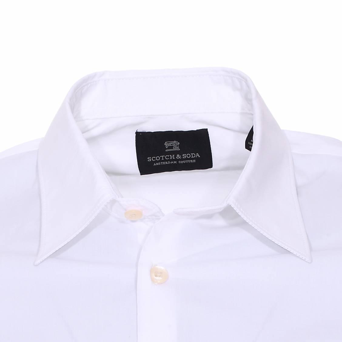 chemise scotch&soda en coton blanc
