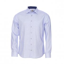 Chemise manches longues Seidensticker sans repassage à carreaux bleus et blancs