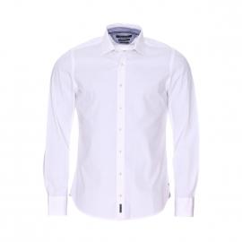 Chemise manches longues cintrée Marc O'Polo en coton blanc