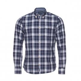 Chemise manches longues cintrée Marc O'Polo à carreaux bleus et blancs