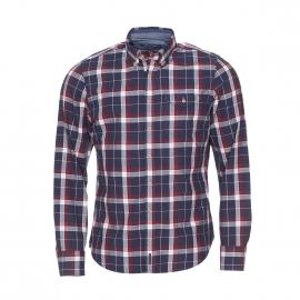 Chemise manches longues cintrée Marc O'Polo à carreaux bleus, blancs et rouges
