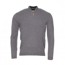 Pull Acanthe col zippé Harris Wilson en laine gris chiné