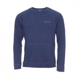 Sweat Calvin Klein en coton bleu marine à poches