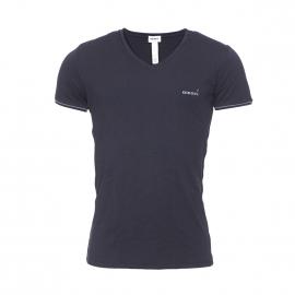 Tee-shirt Diesel en coton stretch noir estampillé en gris