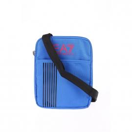 Sacoche plate à bandoulière EA7 bleu électrique estampillée