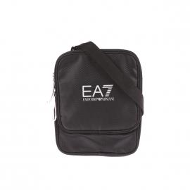Sacoche à bandoulière EA7 noire satinée estampillée