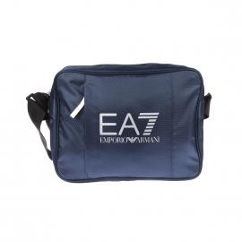 Besace EA7 bleu marine satinée estampillée