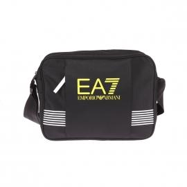 Besace EA7 noire estampillée en jaune