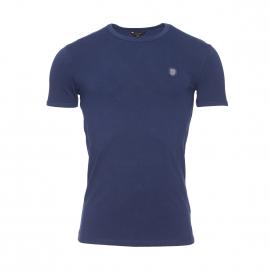 Tee-shirt col rond Antony Morato en coton stretch bleu marine estampillé