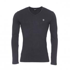 Tee-shirt manches longues Antony Morato en coton stretch noir estampillé