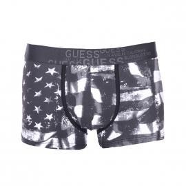 Shorty Guess en coton stretch estampillé du drapeau américain en noir, gris et blanc