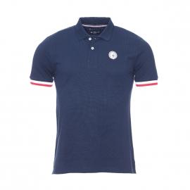 Polo Paris Mister Marcel en coton bleu marine estampillé