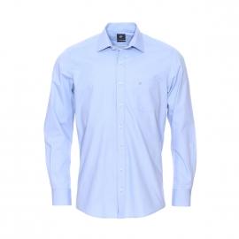 Chemise droite Pierre Cardin en coton bleu ciel