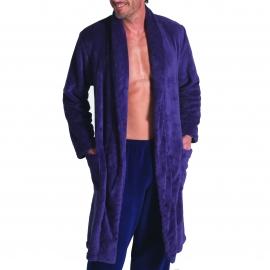 Robe de chambre polaire Eminence ceinturée couleur myrtille