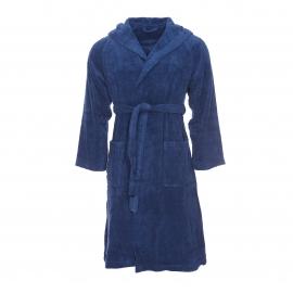 Peignoir de bain éponge Sydney Supersoft Vossen en coton bleu marine à capuche