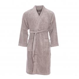 Peignoir de bain éponge Tokio Supersoft Vossen en coton gris clair