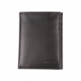 Porte-cartes Guess en cuir noir
