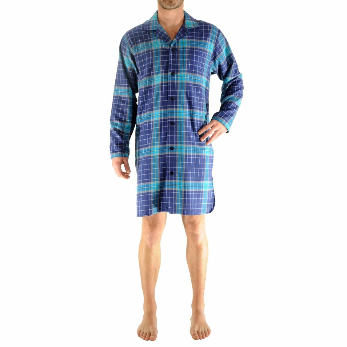 liquette chemise gauthier christian cane en coton carreaux bleu marine turquoise et gris rue. Black Bedroom Furniture Sets. Home Design Ideas