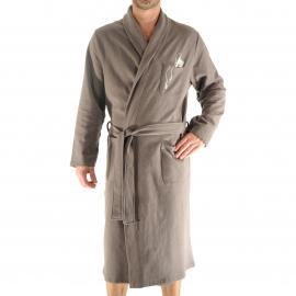 Robe de chambre Gap Christian Cane en coton moletonné taupe