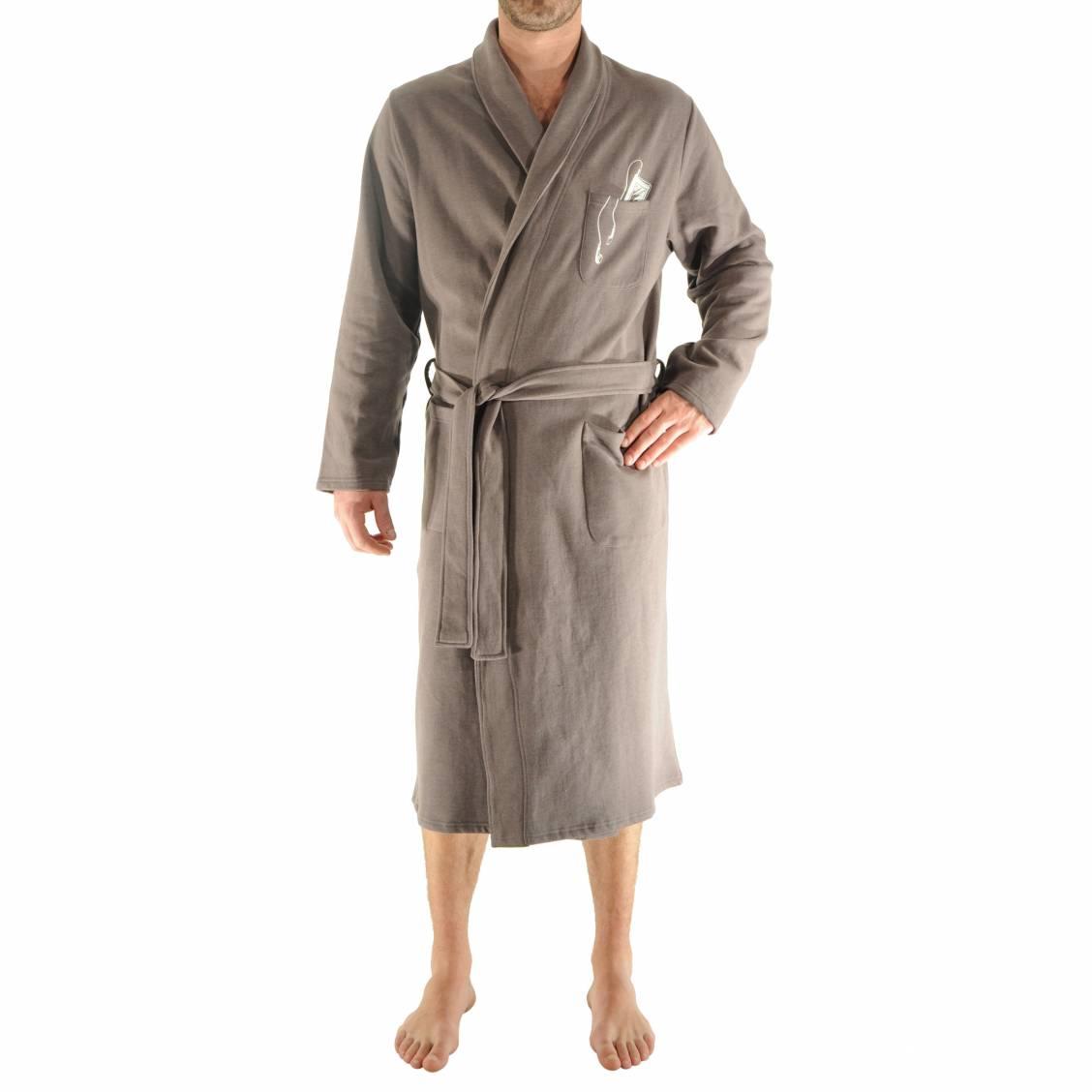 Robe de chambre homme coton for Peignoir de chambre