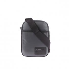Sacoche zippée Diesel grise à bordure grise, spécial tablette