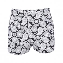 Caleçon Happy Socks en coton noir à motifs cachemire blanc