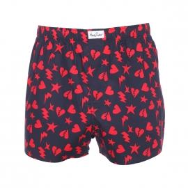 Caleçon Happy Socks en coton bleu marine à motifs cœurs rouges
