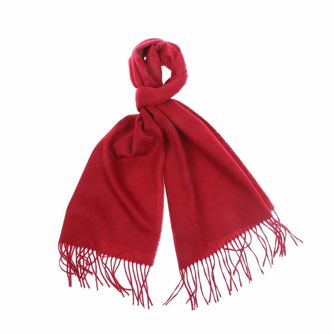 Echarpe  en laine et cachemire bordeaux