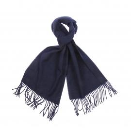 Echarpe Jean Chatel en laine et cachemire bleu marine