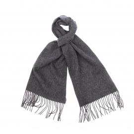 Echarpe Jean Chatel en laine et cachemire gris anthracite