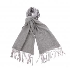 Echarpe Jean Chatel en laine et cachemire gris chiné