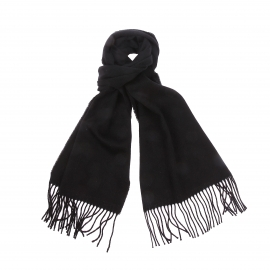Echarpe Jean Chatel en laine et cachemire noir