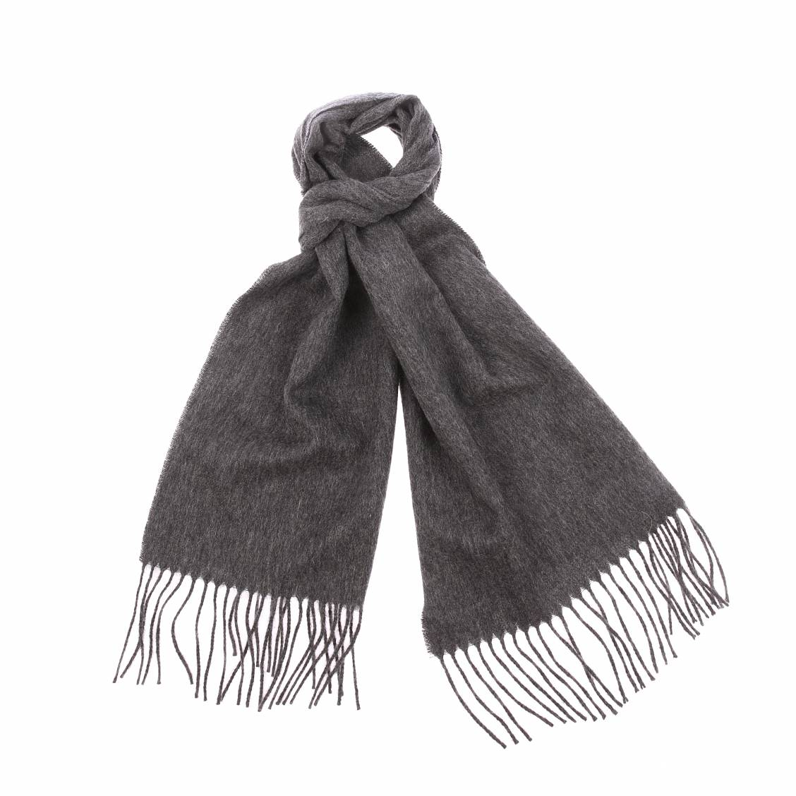 Echarpe  en laine gris foncé