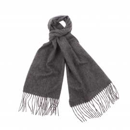 Echarpe Jean Chatel en laine gris foncé
