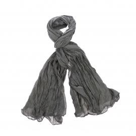 Chèche Pierre Cardin en coton kaki, effet froissé