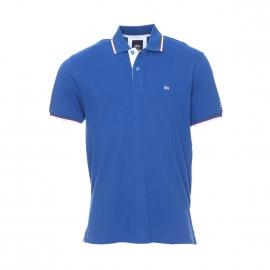 Polo Poltim TBS en coton en maille piquée bleu électrique