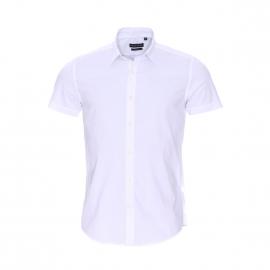 Chemise  super slim manches courtes Antony Morato en coton stretch blanc