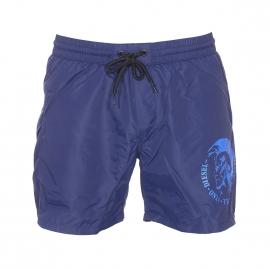 Short de bain Diesel bleu marine floqué en bleu électrique