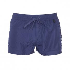 Short de bain court Diesel Fold & Go bleu marine