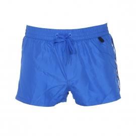 Short de bain court Diesel Fold & Go bleu électrique