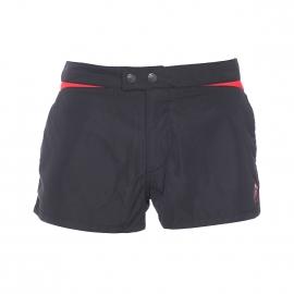 Short de bain Diesel noir à bande rouge