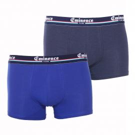 Lot de 2 boxers Eminence Club en coton et modal stretch bleu indigo et bleu marine